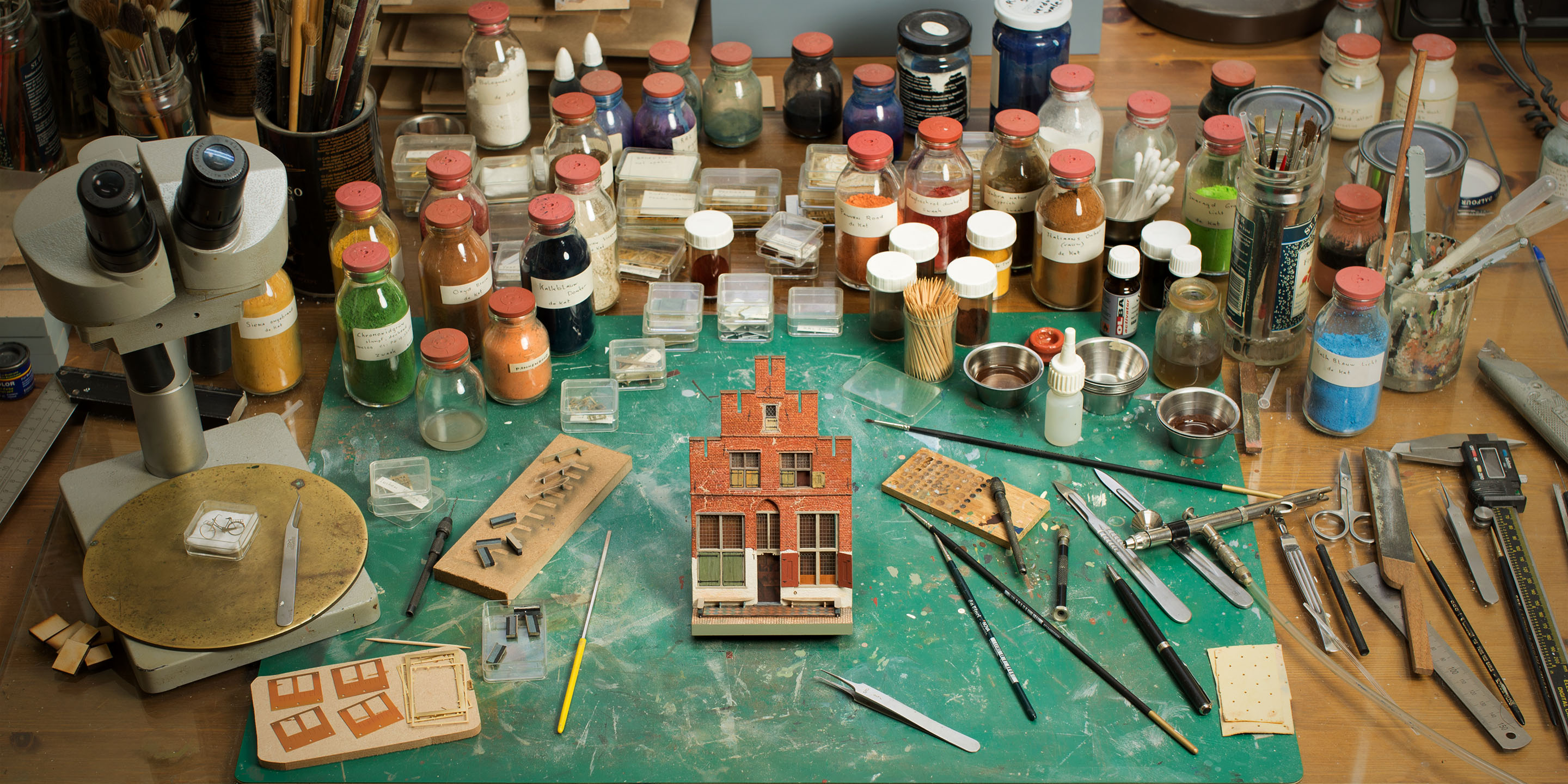 handmade, true-to-life scale miniature houses